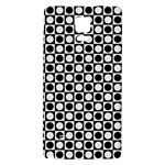 Modern Dots In Squares Mosaic Black White Galaxy Note 4 Back Case Front