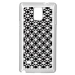 Modern Dots In Squares Mosaic Black White Samsung Galaxy Note 4 Case (White) Front
