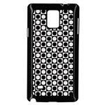 Modern Dots In Squares Mosaic Black White Samsung Galaxy Note 4 Case (Black) Front