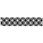 Modern Dots In Squares Mosaic Black White Flano Scarf (Small) Back