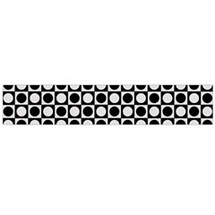 Modern Dots In Squares Mosaic Black White Flano Scarf (Large)