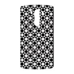 Modern Dots In Squares Mosaic Black White LG G3 Back Case Front
