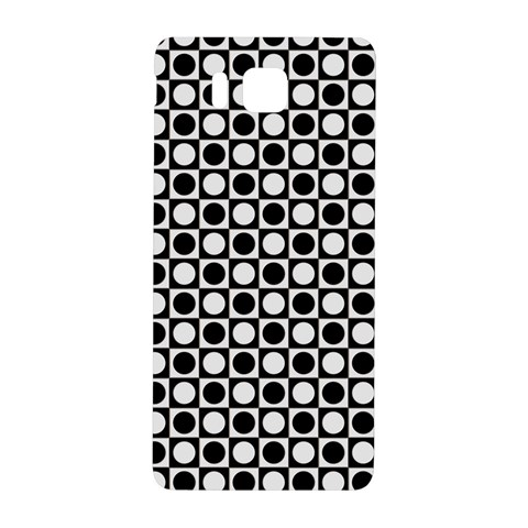 Modern Dots In Squares Mosaic Black White Samsung Galaxy Alpha Hardshell Back Case