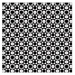 Modern Dots In Squares Mosaic Black White Large Satin Scarf (Square) Front