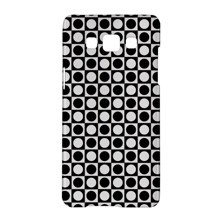 Modern Dots In Squares Mosaic Black White Samsung Galaxy A5 Hardshell Case