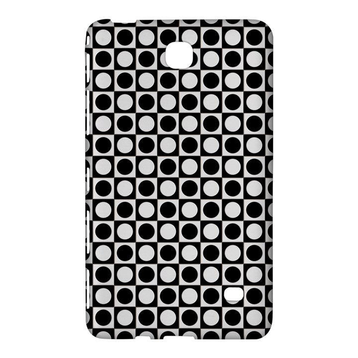 Modern Dots In Squares Mosaic Black White Samsung Galaxy Tab 4 (7 ) Hardshell Case