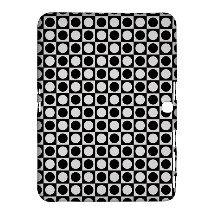 Modern Dots In Squares Mosaic Black White Samsung Galaxy Tab 4 (10.1 ) Hardshell Case