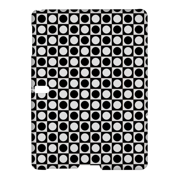 Modern Dots In Squares Mosaic Black White Samsung Galaxy Tab S (10.5 ) Hardshell Case