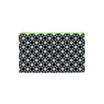 Modern Dots In Squares Mosaic Black White Cosmetic Bag (XS) Front