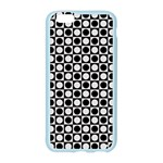 Modern Dots In Squares Mosaic Black White Apple Seamless iPhone 6/6S Case (Color) Front