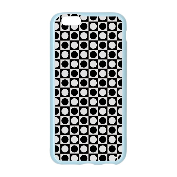Modern Dots In Squares Mosaic Black White Apple Seamless iPhone 6/6S Case (Color)
