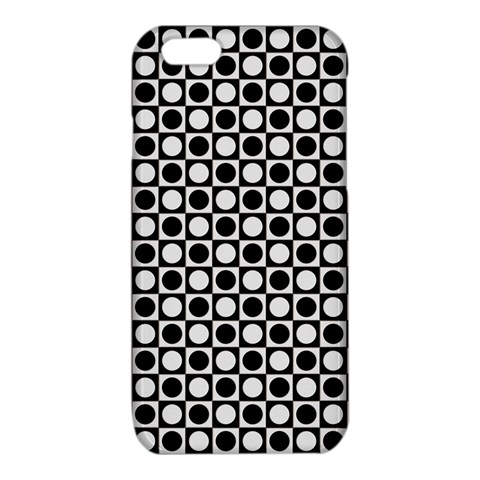 Modern Dots In Squares Mosaic Black White iPhone 6/6S TPU Case