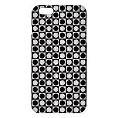 Modern Dots In Squares Mosaic Black White Iphone 6 Plus/6s Plus Tpu Case
