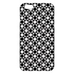 Modern Dots In Squares Mosaic Black White iPhone 6 Plus/6S Plus TPU Case Front