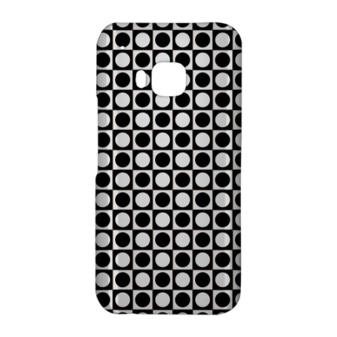 Modern Dots In Squares Mosaic Black White HTC One M9 Hardshell Case