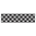 Modern Dots In Squares Mosaic Black White Satin Scarf (Oblong) Front