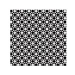 Modern Dots In Squares Mosaic Black White Small Satin Scarf (Square) Front