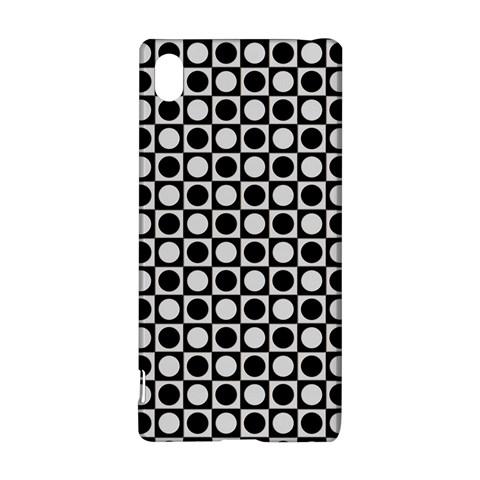 Modern Dots In Squares Mosaic Black White Sony Xperia Z3+