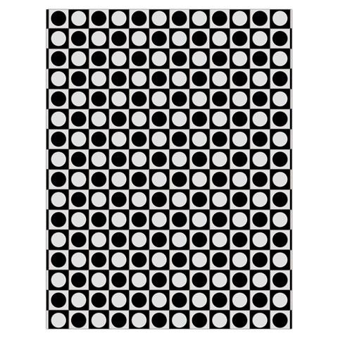 Modern Dots In Squares Mosaic Black White Drawstring Bag (Large)