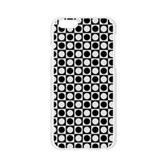 Modern Dots In Squares Mosaic Black White Apple Seamless iPhone 6/6S Case (Transparent)