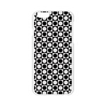 Modern Dots In Squares Mosaic Black White Apple Seamless iPhone 6/6S Case (Transparent) Front