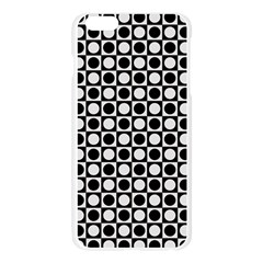 Modern Dots In Squares Mosaic Black White Apple Seamless iPhone 6 Plus/6S Plus Case (Transparent)