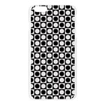 Modern Dots In Squares Mosaic Black White Apple Seamless iPhone 6 Plus/6S Plus Case (Transparent) Front
