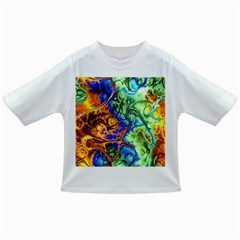 Abstract Fractal Batik Art Green Blue Brown Infant/toddler T Shirts