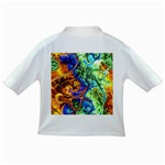 Abstract Fractal Batik Art Green Blue Brown Infant/Toddler T-Shirts Back