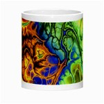 Abstract Fractal Batik Art Green Blue Brown Night Luminous Mugs Center