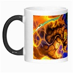 Abstract Fractal Batik Art Green Blue Brown Morph Mugs Left