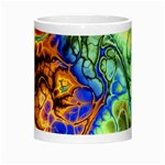 Abstract Fractal Batik Art Green Blue Brown Morph Mugs Center