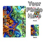 Abstract Fractal Batik Art Green Blue Brown Playing Cards 54 Designs  Front - Joker1