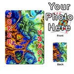 Abstract Fractal Batik Art Green Blue Brown Playing Cards 54 Designs  Front - Joker2