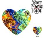 Abstract Fractal Batik Art Green Blue Brown Playing Cards 54 (Heart)  Front - SpadeA