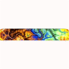 Abstract Fractal Batik Art Green Blue Brown Small Bar Mats