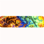 Abstract Fractal Batik Art Green Blue Brown Large Bar Mats 34 x9.03 Bar Mat - 1