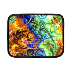 Abstract Fractal Batik Art Green Blue Brown Netbook Case (Small)