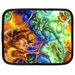 Abstract Fractal Batik Art Green Blue Brown Netbook Case (XXL)  Front