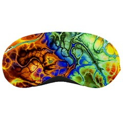 Abstract Fractal Batik Art Green Blue Brown Sleeping Masks