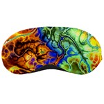 Abstract Fractal Batik Art Green Blue Brown Sleeping Masks Front