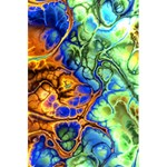 Abstract Fractal Batik Art Green Blue Brown 5.5  x 8.5  Notebooks Back Cover