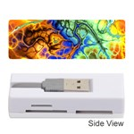 Abstract Fractal Batik Art Green Blue Brown Memory Card Reader (Stick)  Front