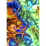 Abstract Fractal Batik Art Green Blue Brown Miss You 3D Greeting Card (7x5) Inside