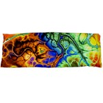 Abstract Fractal Batik Art Green Blue Brown Body Pillow Case (Dakimakura) Body Pillow Case