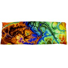 Abstract Fractal Batik Art Green Blue Brown Body Pillow Case Dakimakura (Two Sides)