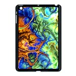 Abstract Fractal Batik Art Green Blue Brown Apple iPad Mini Case (Black) Front