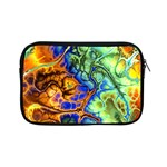 Abstract Fractal Batik Art Green Blue Brown Apple iPad Mini Zipper Cases Front