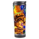 Abstract Fractal Batik Art Green Blue Brown Travel Tumbler Left