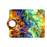 Abstract Fractal Batik Art Green Blue Brown Kindle Fire HD (2013) Flip 360 Case Front